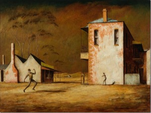 Russell Drysdale, 'The cricketers', 1948.  Private collection, © Estate of Russell Drysdale.